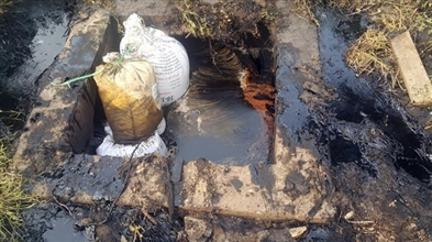 Bắt quả tang công ty TNHH một thành viên Pak Việt Nam xả thải ra môi trường